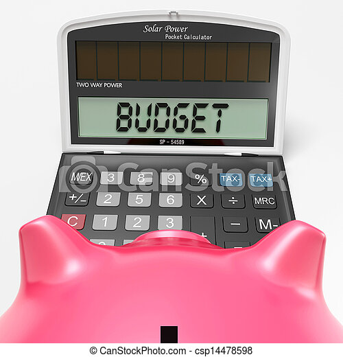 Budget Calculator Shows Accounting And Management Report - csp14478598