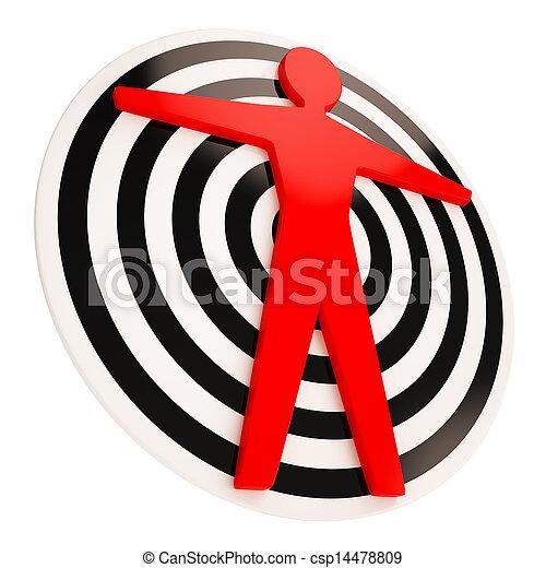Human Target Shows Object As Man - csp14478809