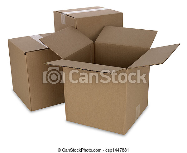 Cardboard Boxes with Path - csp1447881