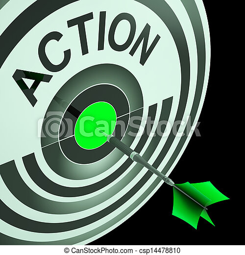 Action Shows Emergency Urgent Or Motivating Act - csp14478810