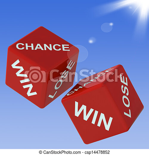 Chance, Win, Lose Dice Shows Gambling  - csp14478852