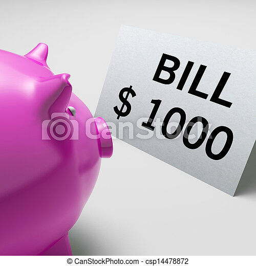 Bills Dollars Shows Invoices Payable And Accounting - csp14478872