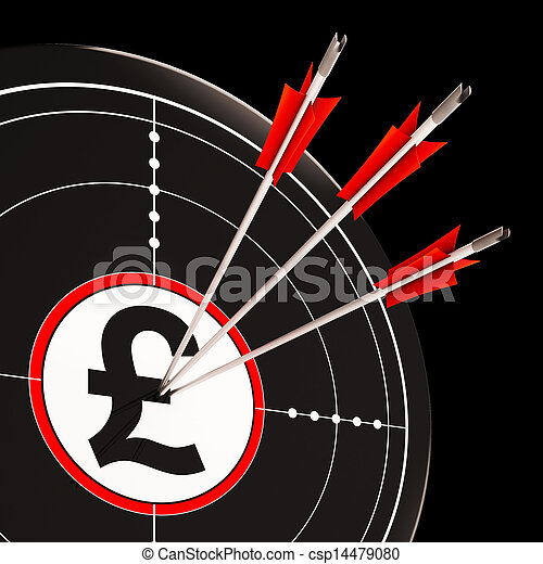 Pound Target Shows United Kingdom Banking - csp14479080