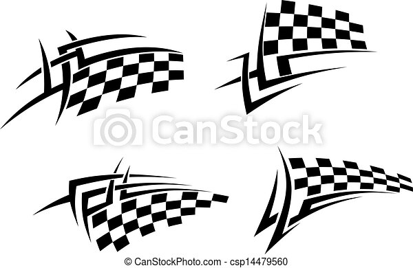 Racing Flag Tattoo Designs
