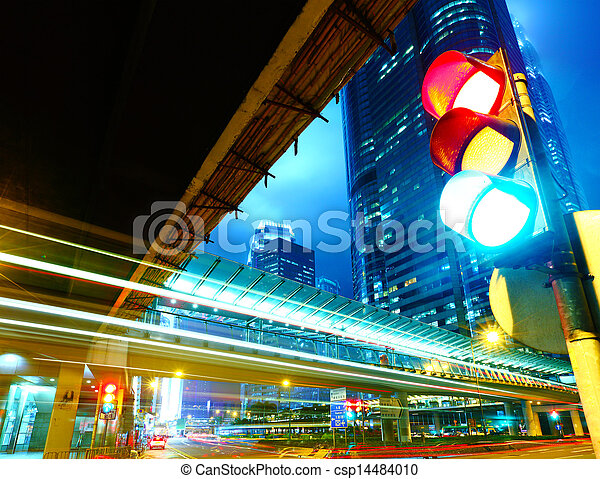 Traffic light in the city - csp14484010