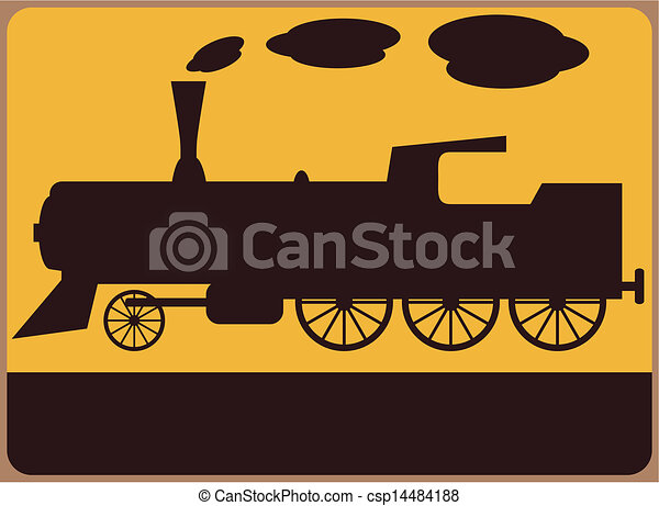 Vector of Railway station sign - Train or railway station ...