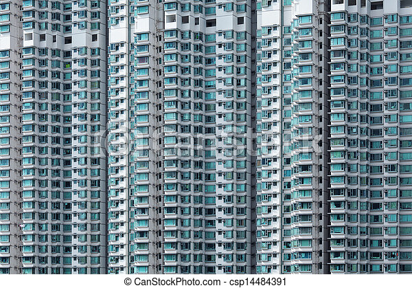 Hong Kong residential building - csp14484391