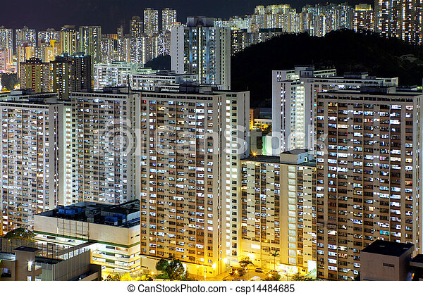 Crowded residential building  - csp14484685