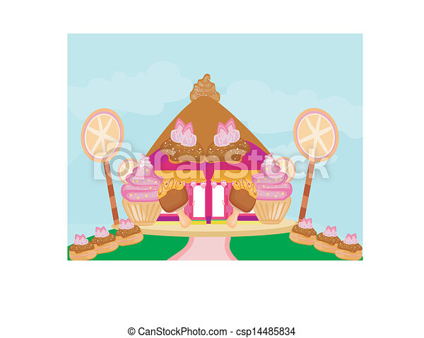 Candy House Drawing Candy House Csp14485834