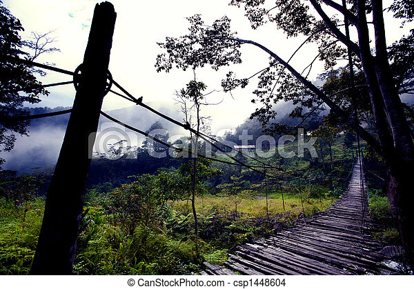Hanging Bridge Fear - csp1448604