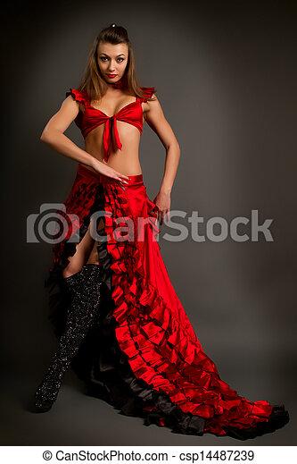 stock fotos von dame zigeuner kost m tanzen flamenco. Black Bedroom Furniture Sets. Home Design Ideas