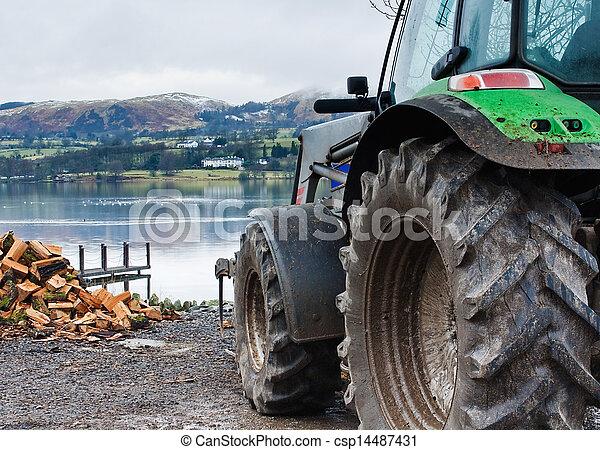 Lake District farm scene - csp14487431