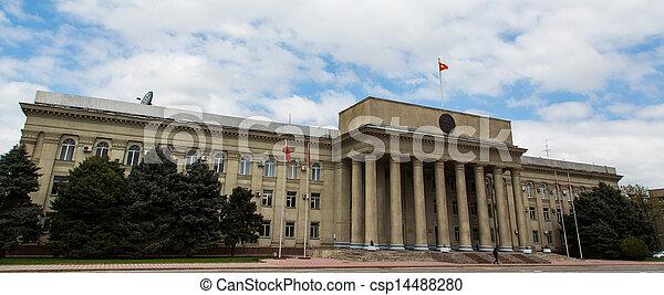 Government Building, Kyrgyzstan, Bishkek - csp14488280