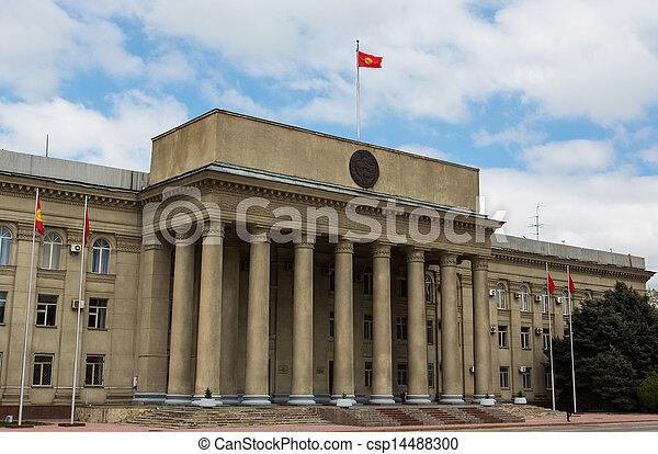 Government Building, Kyrgyzstan, Bishkek - csp14488300