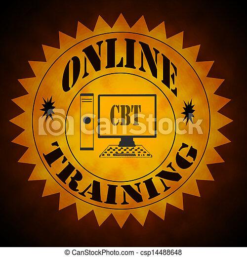 Online Training Symbol - csp14488648