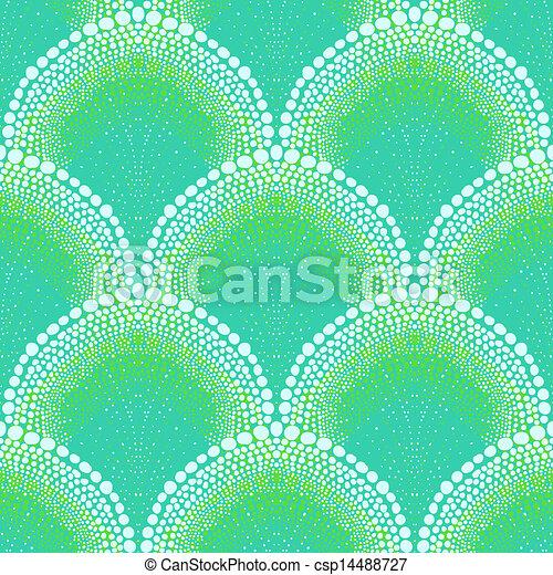 Bold pattern in art deco style in aqua blue - csp14488727