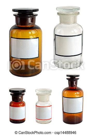 Pharmaceutical bottles set. - csp14488946