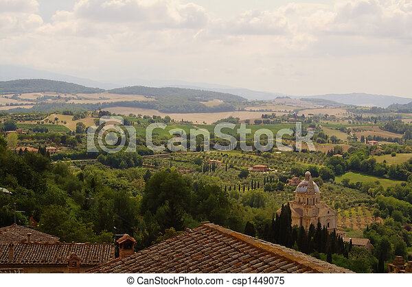 Roofs, dome and hills of Tuscany - csp1449075