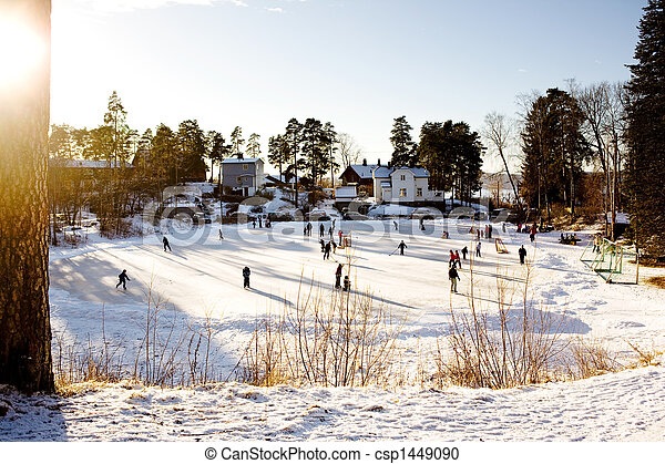 Winter Skating Fun - csp1449090