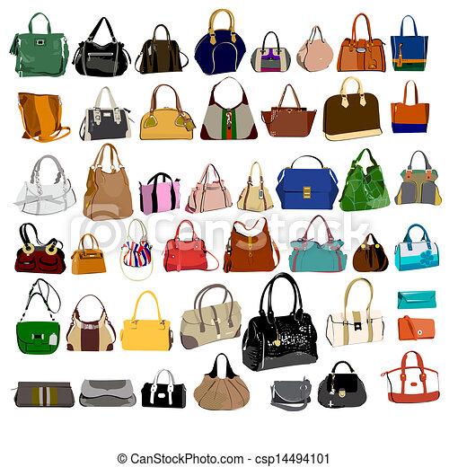 Handbags Stock Illustrations. 14,178 Handbags clip art images and ...
