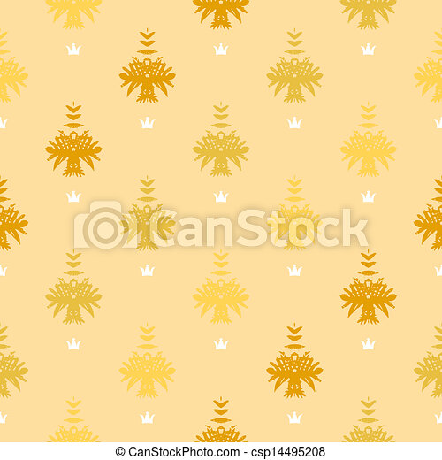 Vector Clipart of Elegant rich vector pattern with damask ...