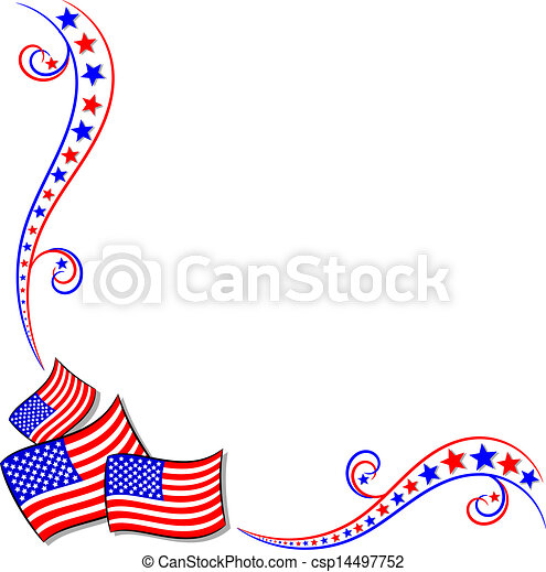 American Flags and Stars - csp14497752