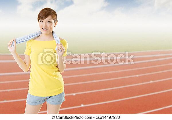 athletic woman - csp14497930