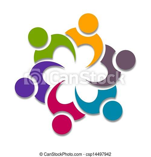 Drawing Of Cooperation Icone Design Colorful Graphic