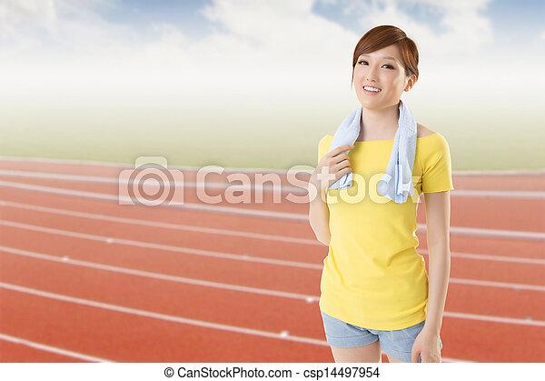 athletic woman - csp14497954