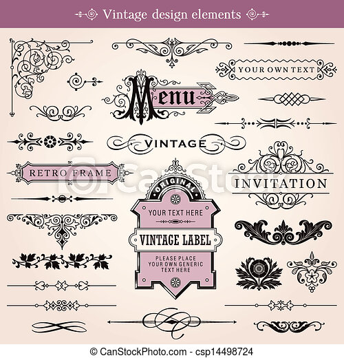 Vintage Graphic Design Elements Vintage Design Elements Vector