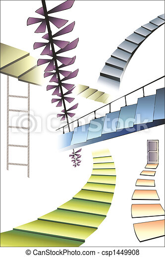 many different stairs - csp1449908