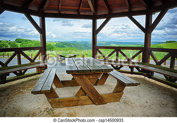 Wooden picnic place - csp14500933