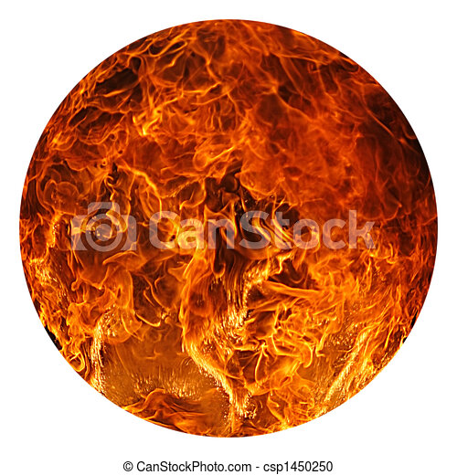 Stock Illustration of Ball of Fire - Ball of fire on a ...