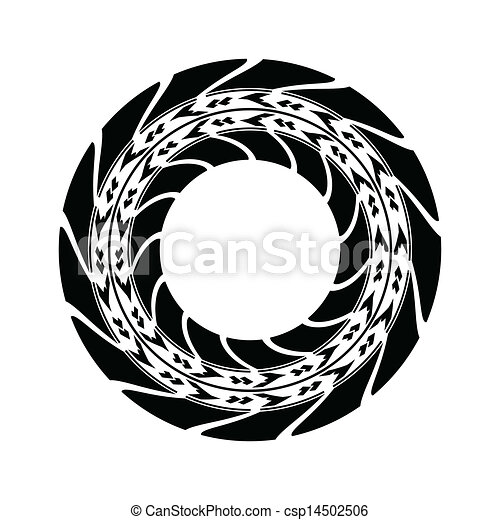 Vector Clipart of tire track background with special design ...