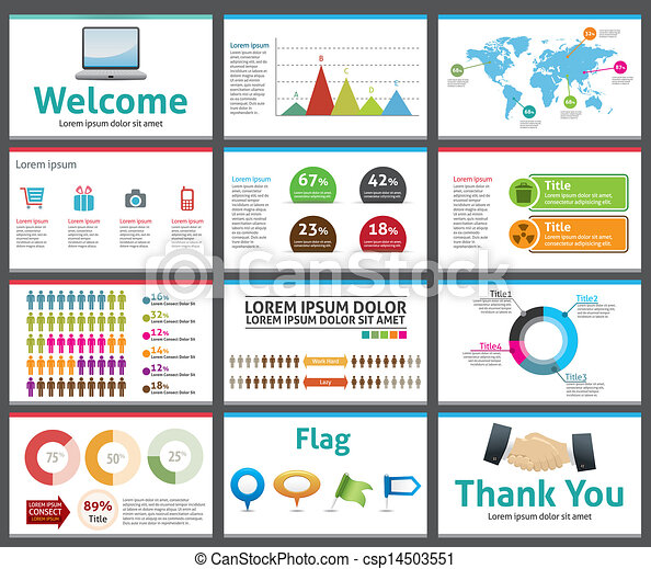 Clipart Vector Of Presentation Template Business Company