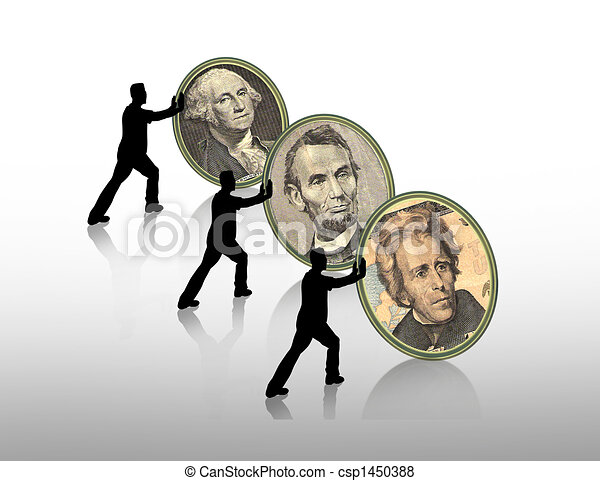 Presidents Day graphic background - csp1450388