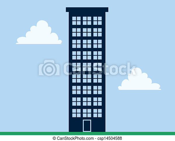 Apartment Building Drawing vector of apartment building tall - tall apartment building with