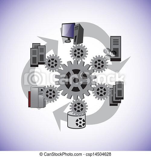 Vector Illustration of System enterprise architecture ...
