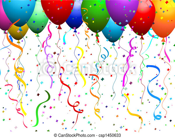Balloons and confetti  - csp1450633