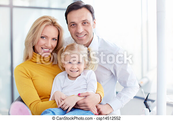 Family in dental clinic - csp14512552