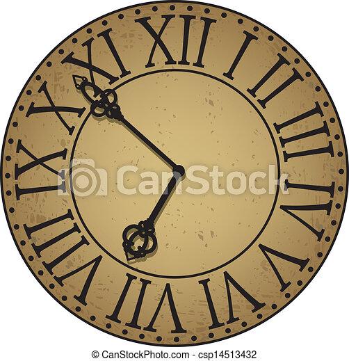 antique clock face - csp14513432