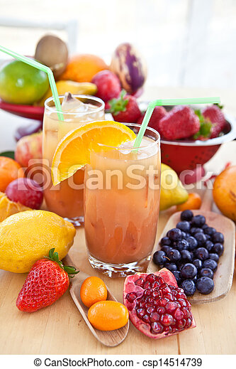 Juice from various fresh fruits - csp14514739