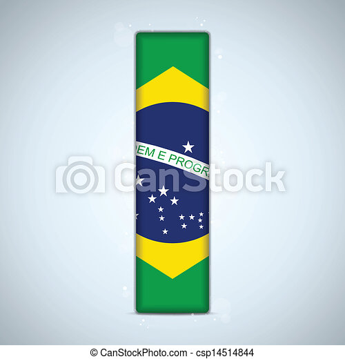 Brazil Flag Brazilian Alphabet Letters Words - csp14514844