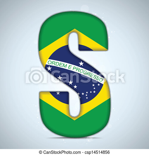 Brazil Flag Brazilian Alphabet Letters Words - csp14514856