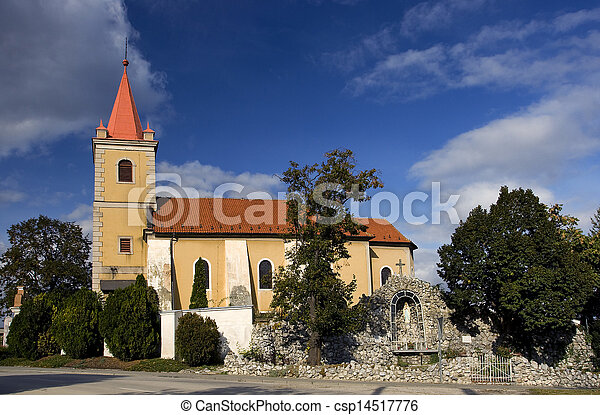 Nice Catholic Church in eastern Europe - village Pac - csp14517776
