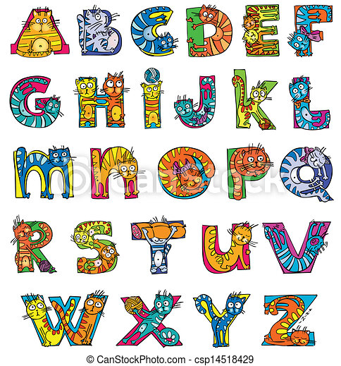 Free Clip Art For Letters With Cats