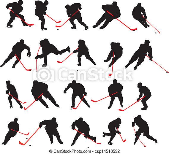 20 detail ice hockey poses - csp14518532