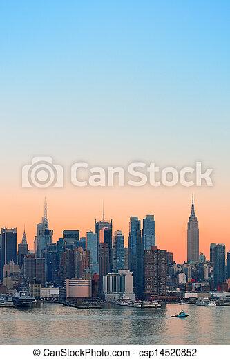New York City sunset - csp14520852