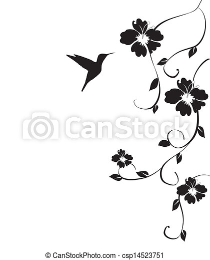 humminbird and flowers - csp14523751