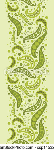 Green Peas Vertical Seamless Pattern Background ...